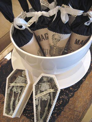 Now these are Halloween wedding favors that will get any guests attention! Find more here.