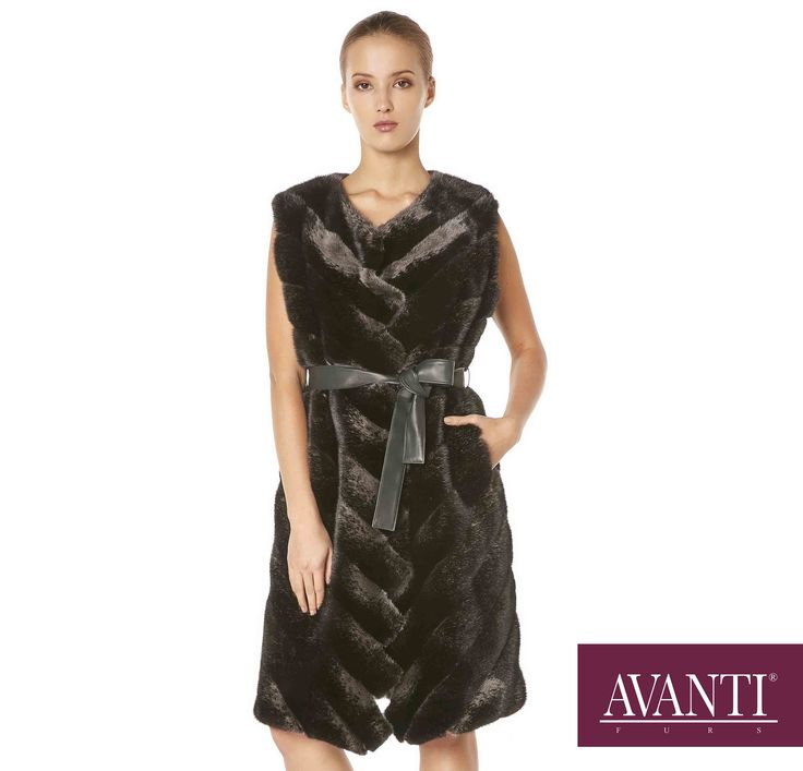 AVANTI FURS - MODEL: BERTILE MINK VEST with Leather details #avantifurs #fur #fashion #mink #luxury #musthave #мех #шуба #стиль #норка #зима #красота #мода #topfurexperts