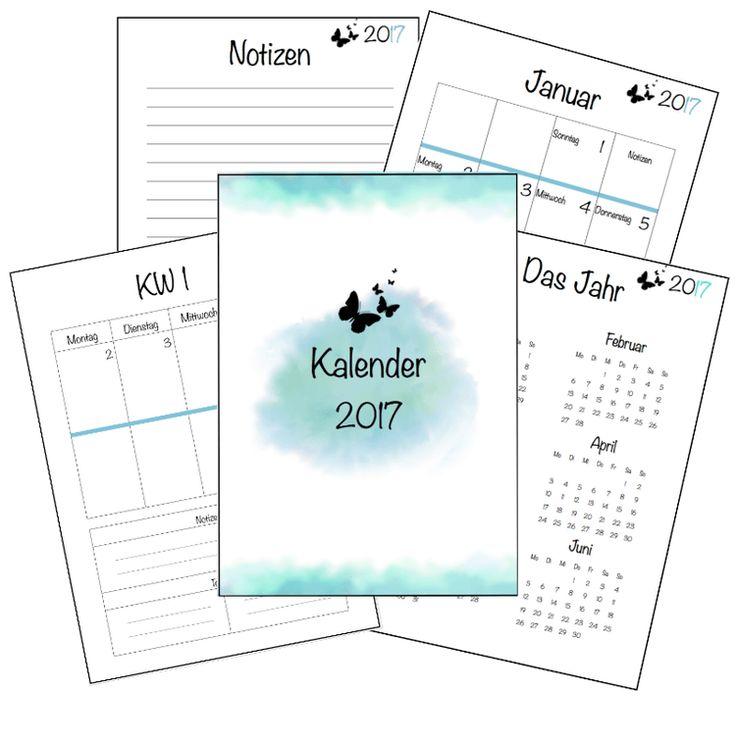 Kalender 2017 - kostenloser Download (Filofax, Staples) | einfach & kreativ