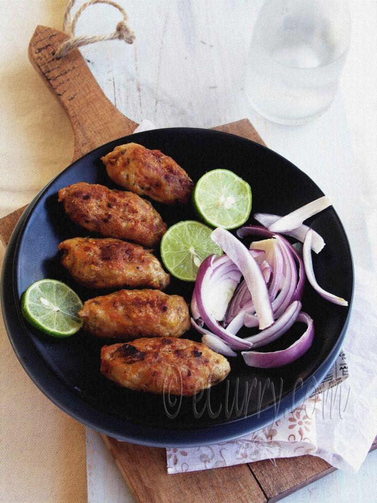 minced flavored chicken kebabs