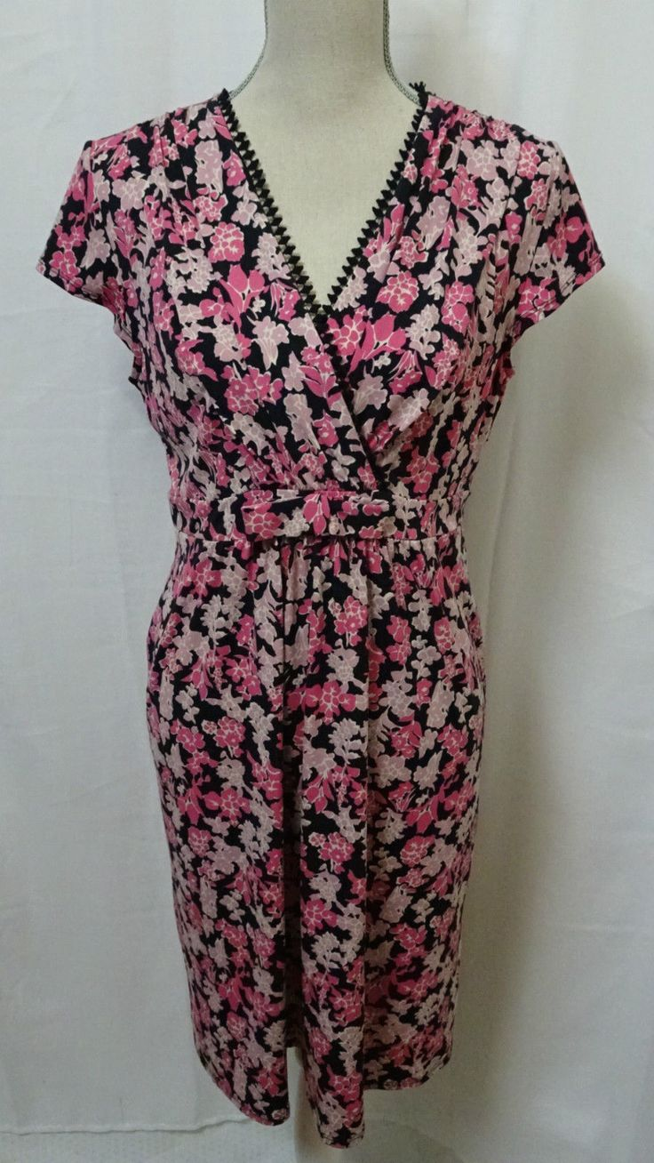 LEONA EDMISTON WOMENS CASUAL BUSINESS CORPORATE DRESS FLORAL DESIGN NEW W/O TAGS in Clothing, Shoes, Accessories, Women's Clothing, Dresses | eBay