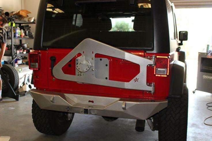 Crawler Conceptz Body Mounted Tire Carrier And Rear Bumper