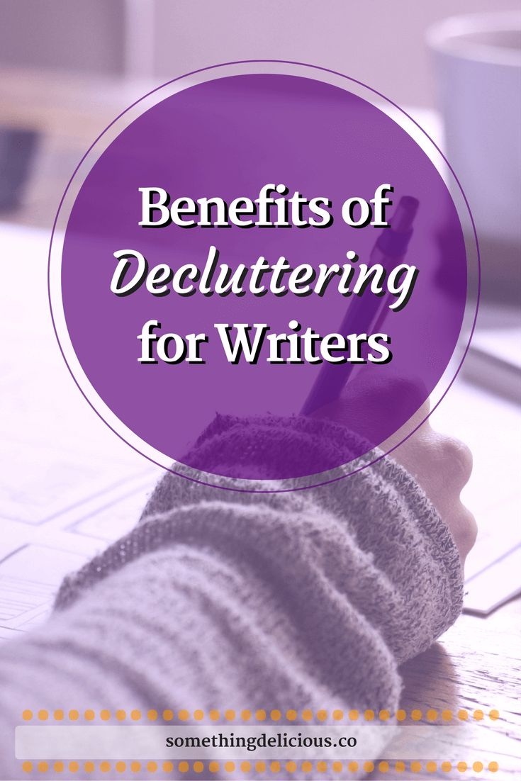 Unlike the traditional, romantic notion of writing amidst chaos, aka piles and piles of paper, I've found that decluttering and getting organized has done wonderful things for my writing.  Find out what's so great about it, and some action steps to start your own decluttering journey, by clicking through to this blog post! | Something Delicious