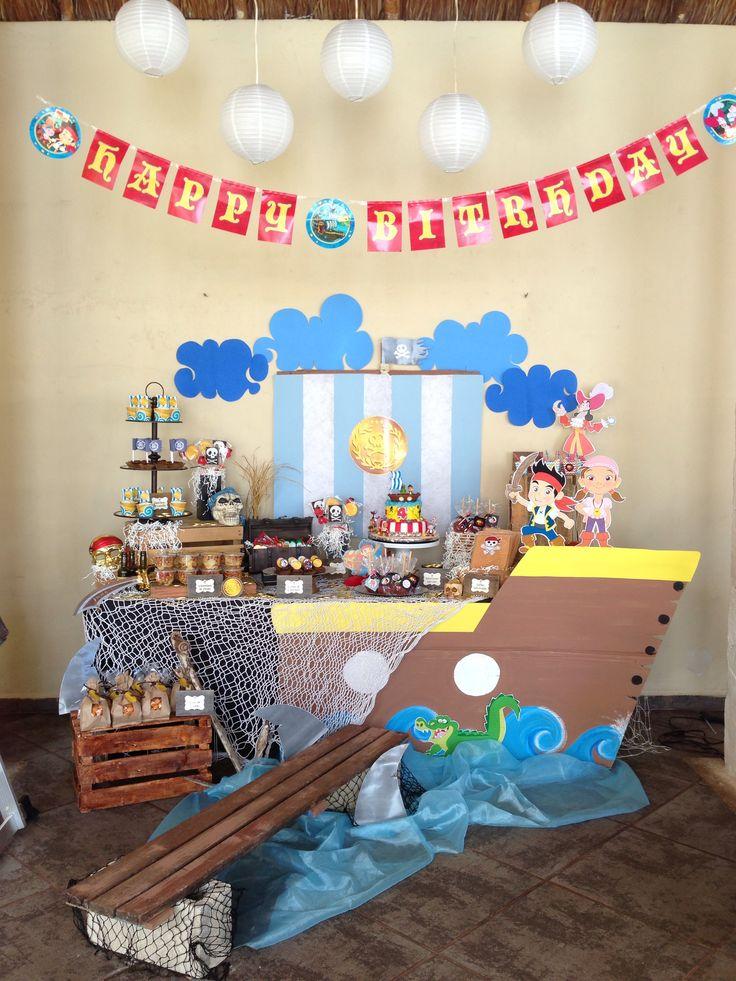 Jake y los piratas del nunca jamás!!! Mesa de dulces y decoración! Jake and the neverland pirates! ❤