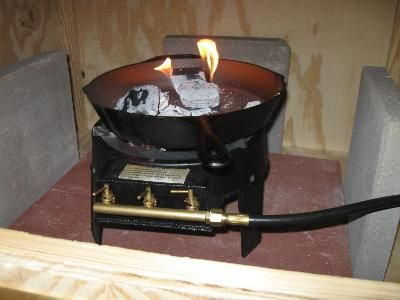 "single burner propane stove - ""Triple versatility for my smokehouse"" -pops6927"