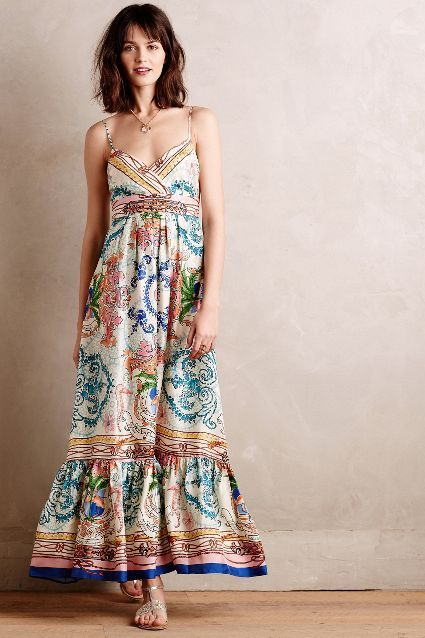 Acionna Silk Maxi Dress - anthropologie.com #anthroregistry