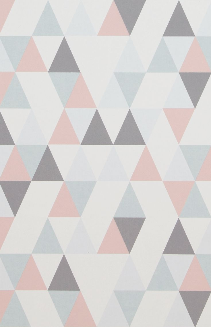 Vliestapete 218183 HEJ Geometrisch grau rosa
