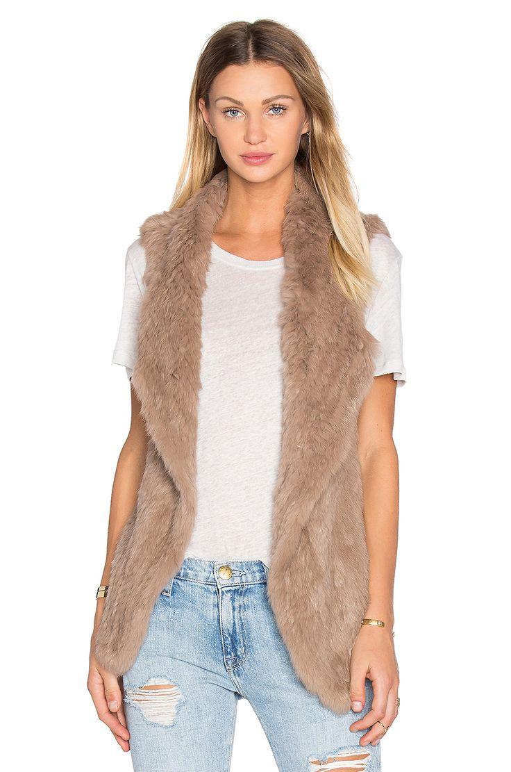 heartLoom Michi Rabbit Fur Vest in Fawn