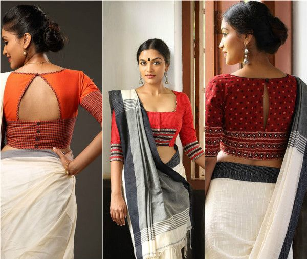 Image result for smart cotton saree blouse designs