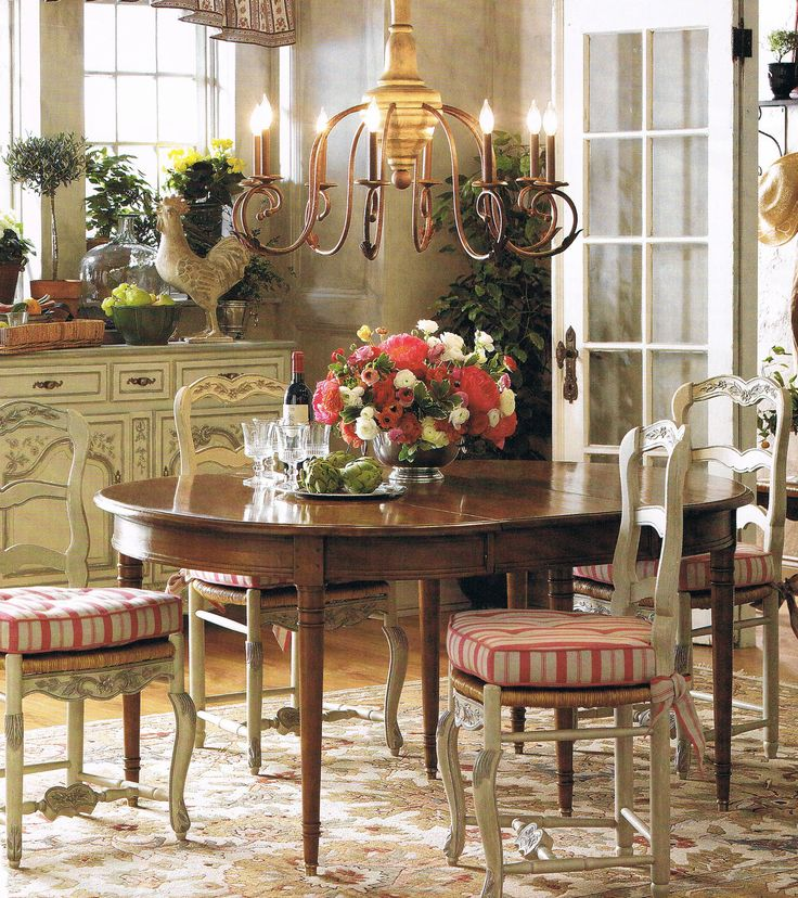 25 best ideas about country dining rooms on pinterest country dining tables french country - French country table centerpieces ...