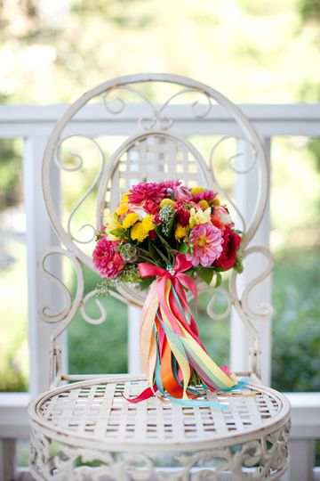 ribbon bouquet | photo by Nancy Ray