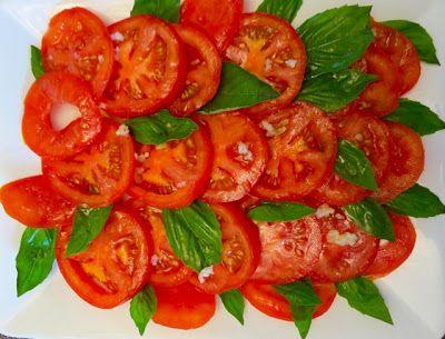 Simple tomato and basil salad