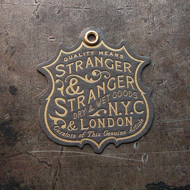 Stranger & Stranger Brand Tag by Cranky Pressman