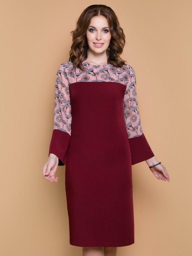 aacc674e4ed Платье Мартини (бордо) Belluche 309-363  купить в Москве в розницу недорого  в интернет-магазине GroupPrice