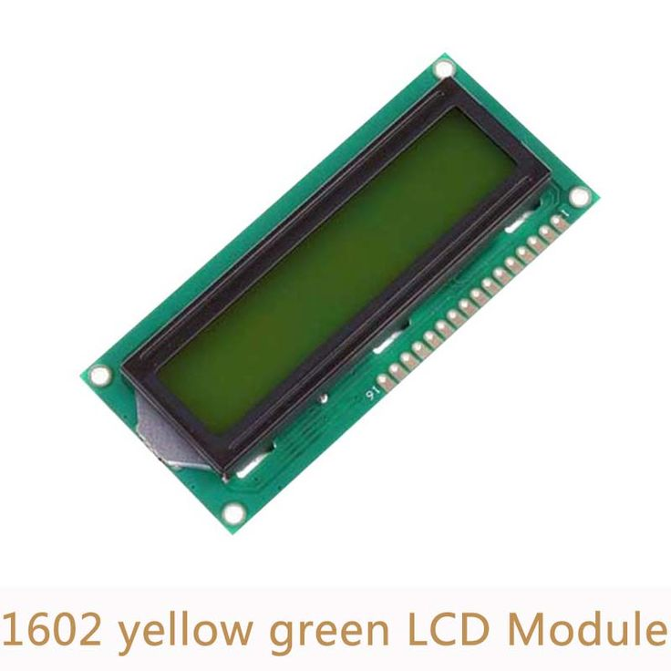 5pcs/lot 5V 1602 LCD display module white character yellow green blacklight for Arduino Duemilanove Robot #Affiliate