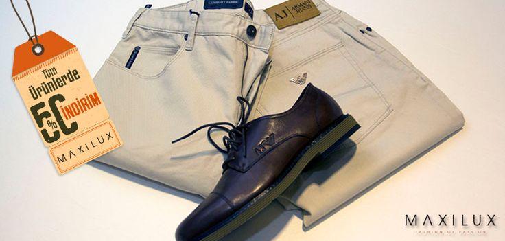 %50 İndirim İle Armani Jeans Şıklığına Ne Dersiniz? #Maxilux #Giyim #Moda #Marka #Fashion #Brand #AJ http://www.maxilux.com.tr/
