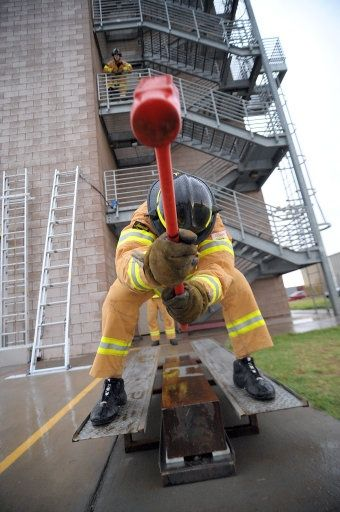 Scott Firefighter Combat Challenge. Check out that cool T-Shirt here: https://www.sunfrog.com/I-love-my-firefighter-Black-Ladies.html?53507