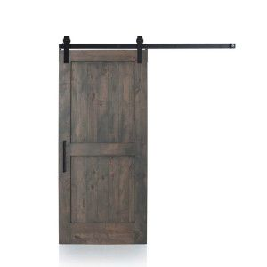 Two framed panels of wood slats echo the minimalist simplicity of Scandinavian design. It's also the ideal door to customize for any interior decor style. Distress it for a rustic look or paint it and pair it with our Elite hardware for a dressed up, contemporary finish. Our most versatile barn door looks fantastic in any space. Shown with our Barn Gray Finish, Stag Hardware and Industric Pull in a Flat Black finish. Available as a kit or prebuilt.  Designed & Crafted entirely in t...