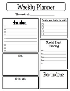 FREE Weekly Planner Sheet - Go to http://pinterest.com/TheBestofTPT/ for this and thousands of free lessons.Homeschool Planners, Organized Planner, Weeks Planners Ne, Planners Sheet, Weekly Planner, Organic Planners, Arc Planners