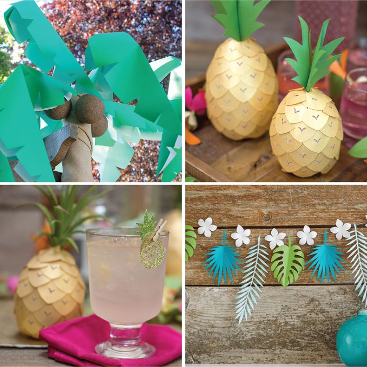 Tropical DIY Projects for Home or Party Decor