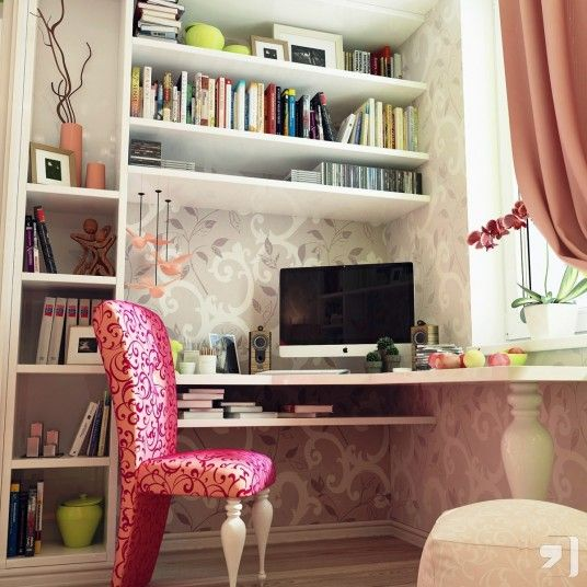 21 Feminine Home Office Designs Decorating Ideas: 225 Best Office Design Images On Pinterest