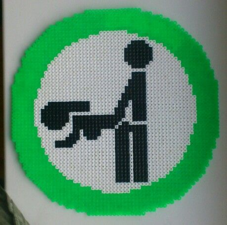 HAMA Perler Doggystyle Sign