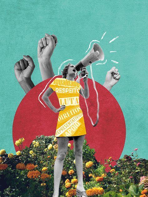 Colagem • Revista Claudia on Behance Art And Illustration, Graphic Design Illustration, Illustrations, Arte Inspo, Kunst Inspo, Surreal Collage, Surreal Art, Collages, Collage Artwork