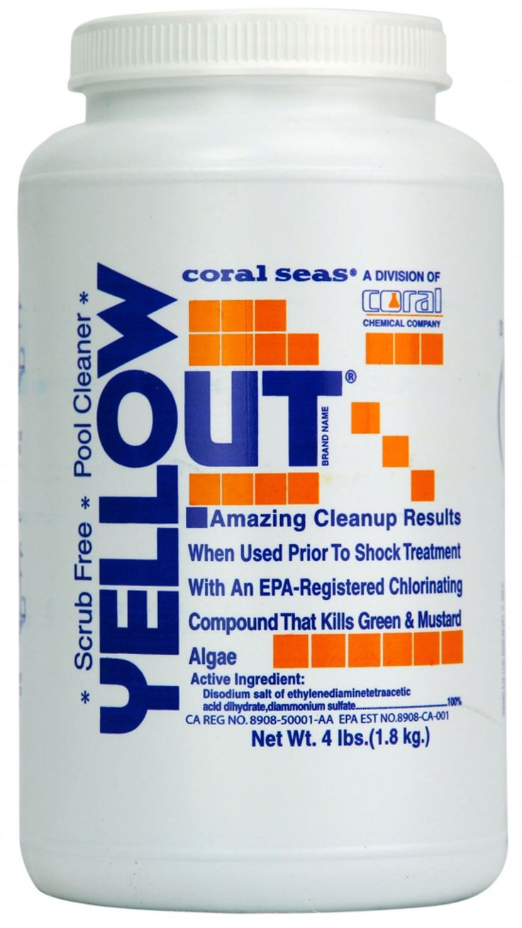 Pool Chemicals and Clarifiers 181058: Yellow Out Swimming Pool Algae Shock Treatment Water Clarifier (Various Sizes) -> BUY IT NOW ONLY: $89.95 on eBay!