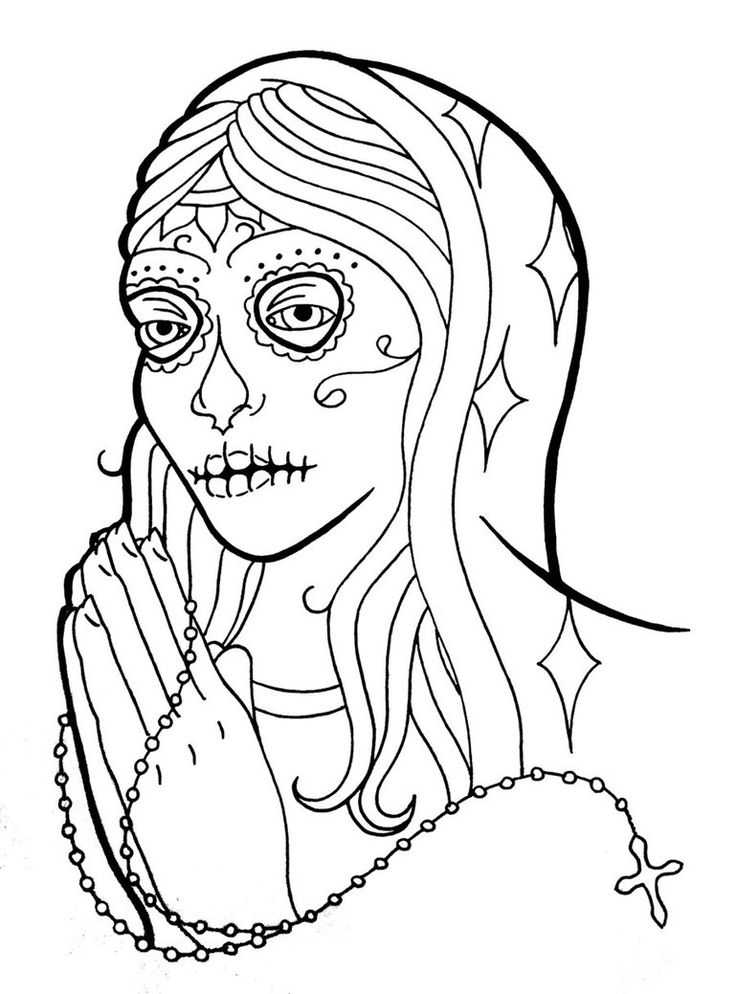 sugar skull pictures color sugar skull tattoo coloring - Sugar Skull Tattoo Coloring Pages
