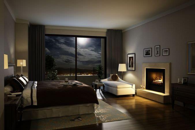 Elegant Cozy Dark Bed Room 3d Model Home Home Decor 3d Interior Design