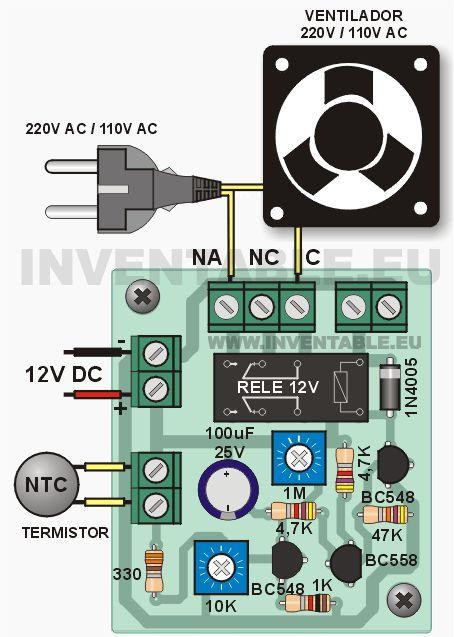 Construcción de un controlador para ventilador o cooler activado por un sensor de temperatura (termistor NTC) y temporización regulable. Hecho con solo 3 transistores. Este sistema consiste en un sensor de temperatura o termistor que activa un ventilador de refrigeración o cooler por un tiempo determinado. Se puede usar en una multitud de aplicaciones en … Seguir leyendo Controlador para ventilador o cooler →