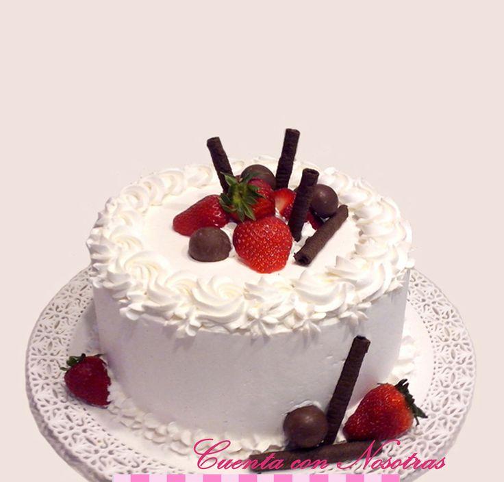 Torta con frutillas Torta de Crema