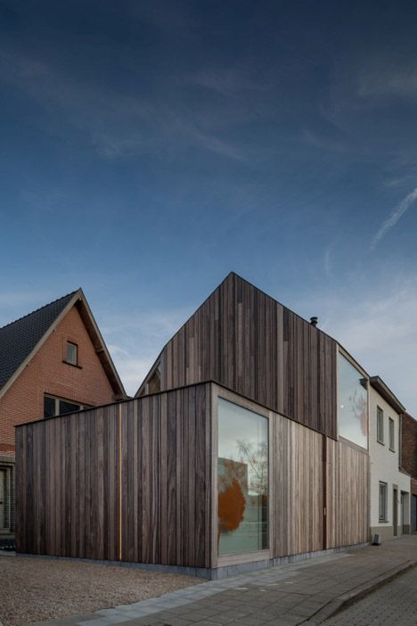 50 Shades of Wood by Declerck-Daels Architecten is a timber dentist surgery in Bruges