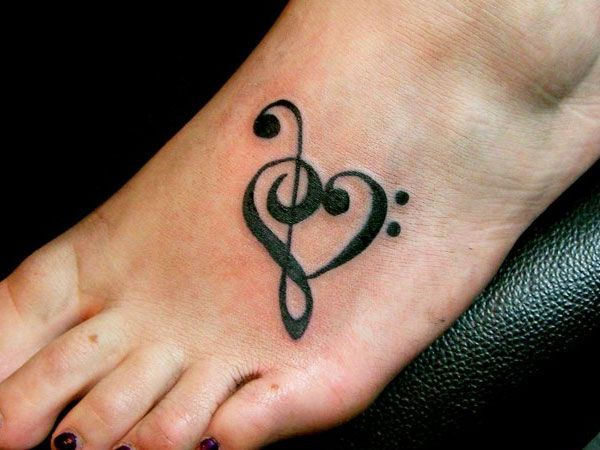music clefs heart tattoo - Google Search