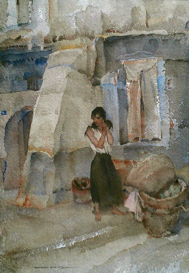 William Russell Flint - Cecilia (1963)