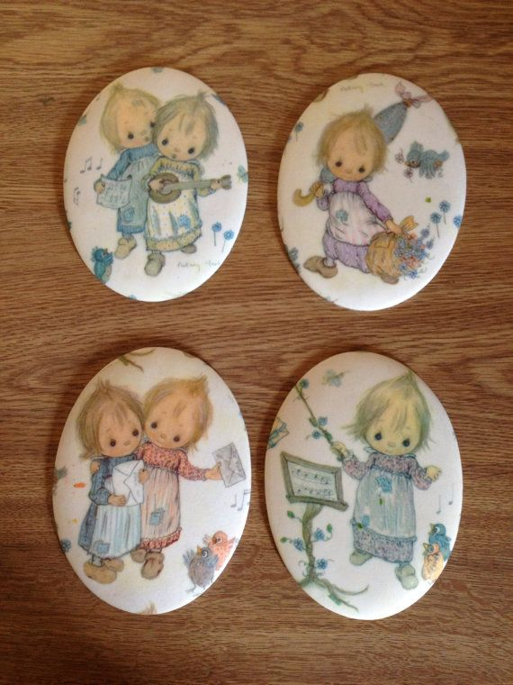 Vintage Betsy Clark Cameos Set of Four