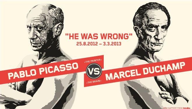 Pablo Picasso vs Marcel Duchamp. Moderna Museet