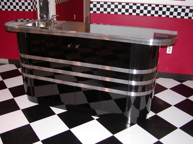 Retro barWork Area, S'Mores Bar, Retro Bar, Retro 50 S, 50 S Diners, Dreams Diners, Custom Retro