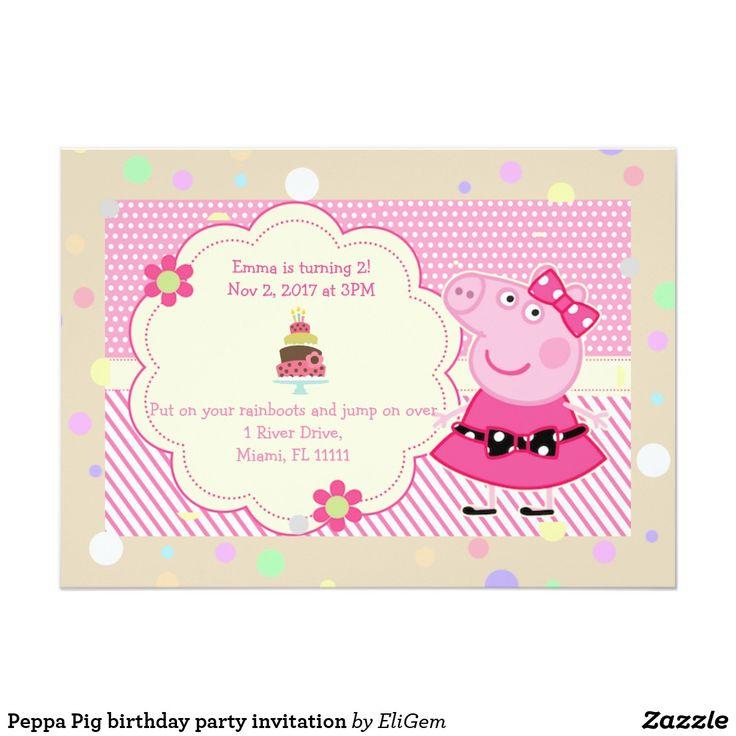 8 best custom made birthday invitations for kids moana unicorns peppa pig birthday party invitation filmwisefo