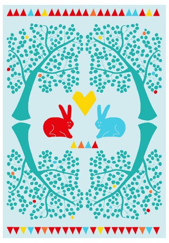 The rabbits, Poster van Nina in vorm