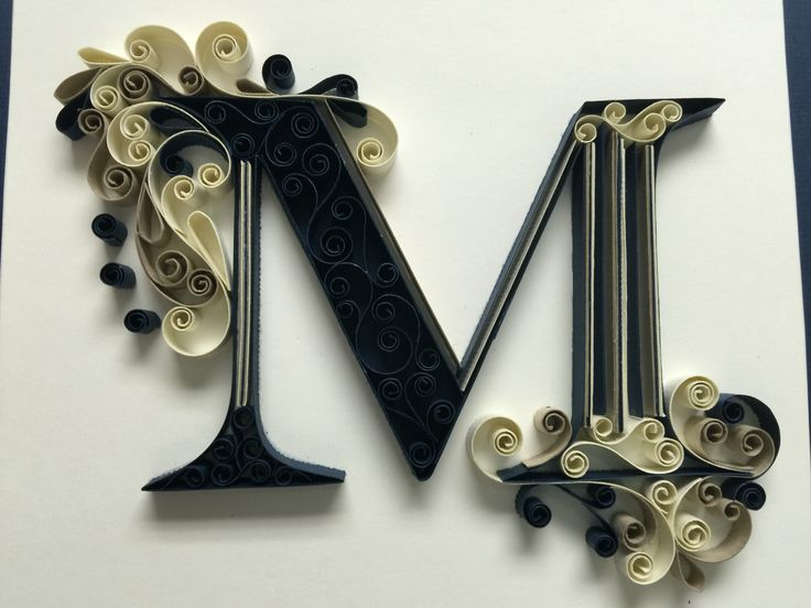 Monogram quilling letter M by Amy Creasy