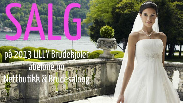 Salg på Lilly brudekjoler 2013 hos www.abelone.no