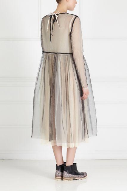 Полупрозрачное платье LES' - Романтичное полупрозрачное платье из коллекции российского бренда LES' в интернет-магазине модной дизайнерской и брендовой одежды