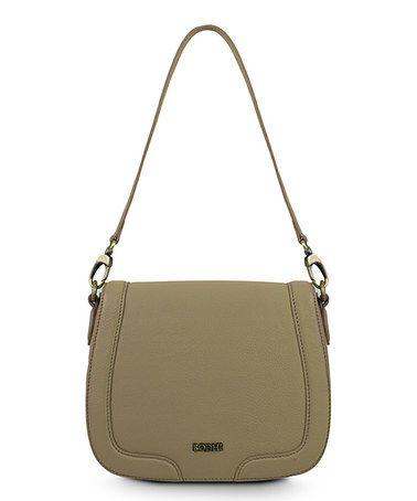 Soft Taupe Leather Shoulder Bag #zulily #zulilyfinds