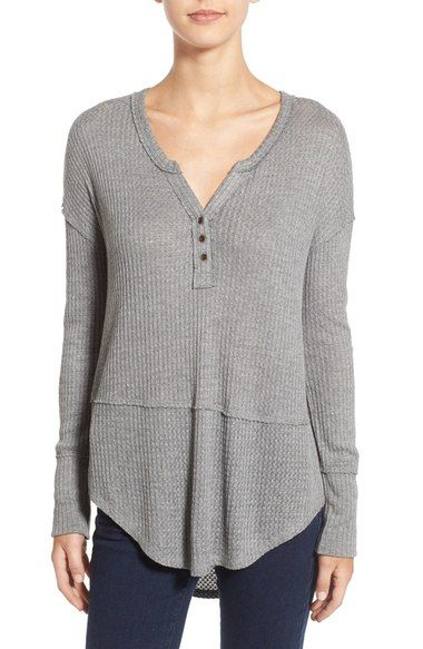 Love on a Hanger Thermal Henley Top available at #Nordstrom