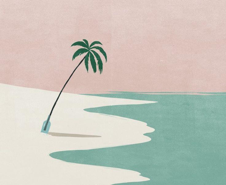 Palmier / plage / illustration