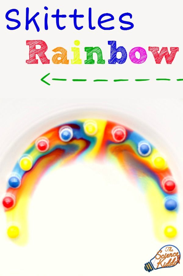 Making a Skittles rainbow is a quick and easy kitchen science experiment that will thrill the kids and engage their creativity. STEM for St. Patrick's Day.