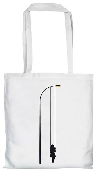 Stoffbeutel mit Laternen-Schaukel von moolwear via dawanda.com /bag with lanterns swing by moolwear via dawanda.com