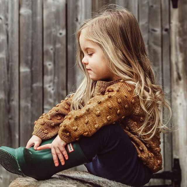 One of our favorite looks. A sweater by Misha and Puff and classic Hunter boots. // Perfect for Fall adventures.