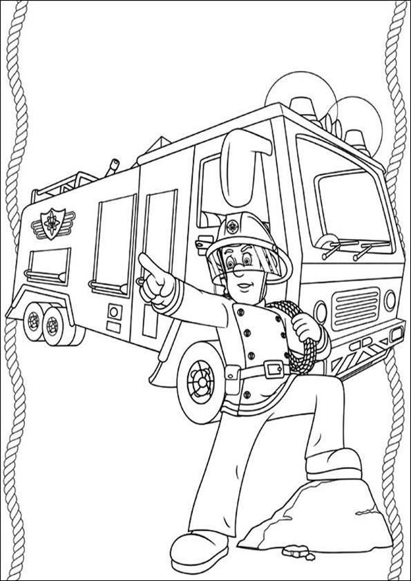 Feuerwehrmann Sam Zum Ausmalen 19 Kostenlose Ausmalbilder Ausmalbilder Feuerwehrmann Sam Clown Basteln Vorlage